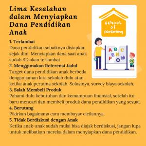 tips menyiapkan dana pendidikan anak