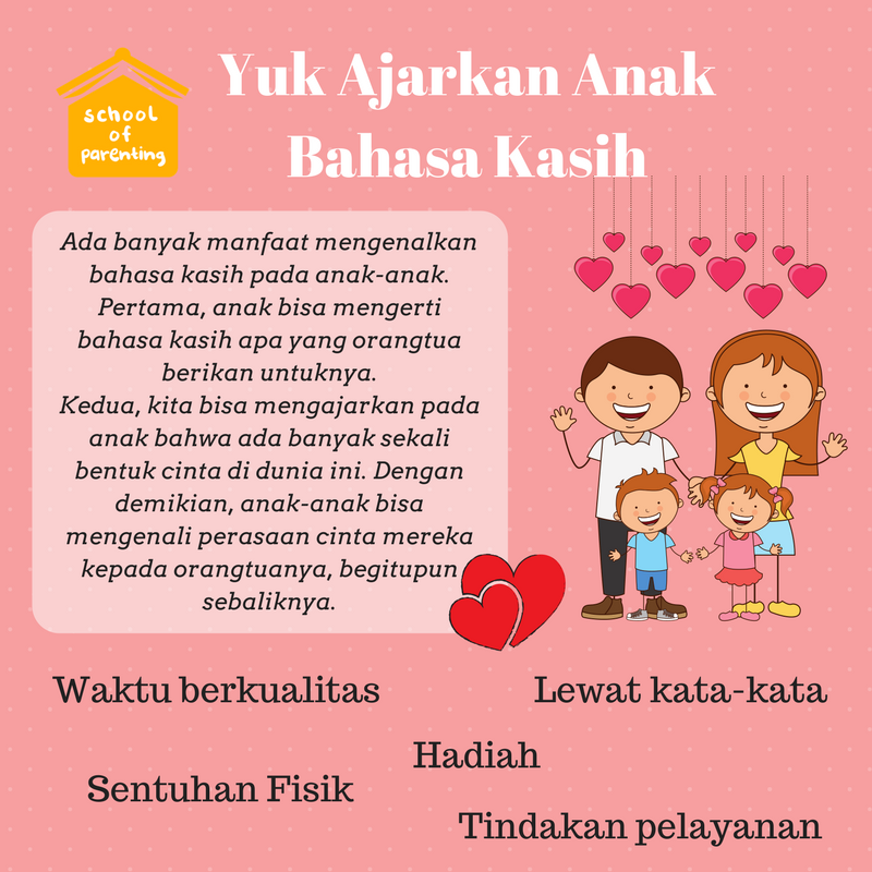 cara ajarkan bahasa kasih pada anak