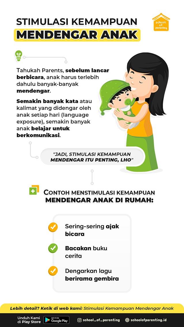 Stimulasi kemampuan mendengar anak sederhana