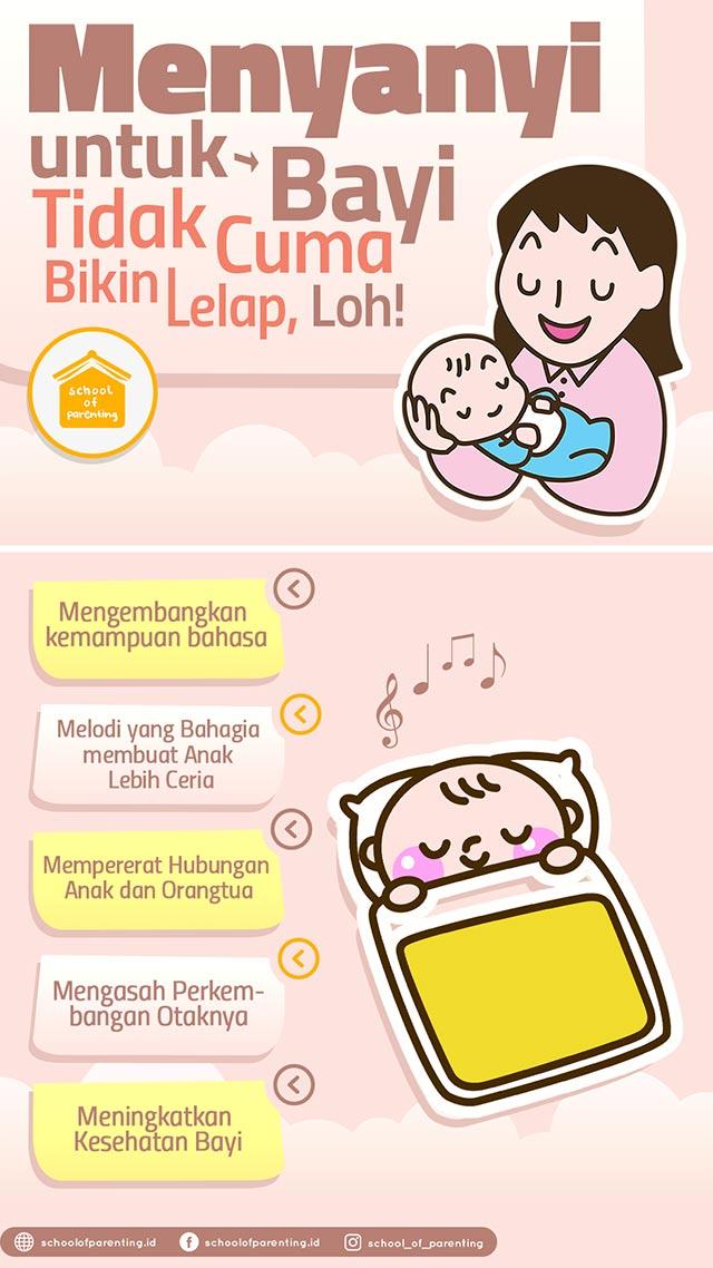 Manfaat bernyanyi untuk bayi