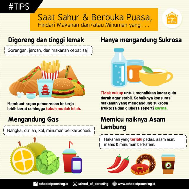 makanan yang harus dihindari saat sahur