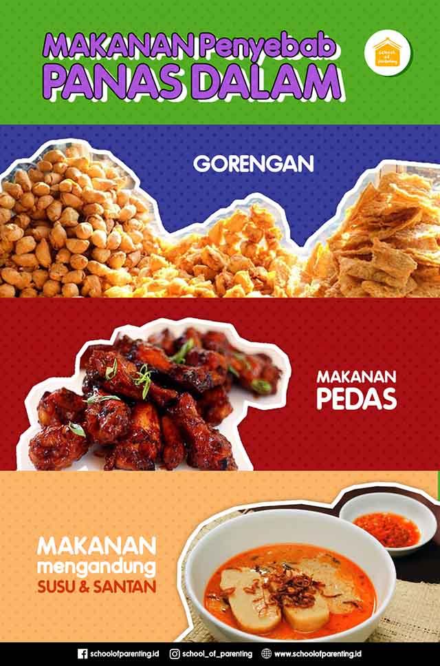makanan penyebab panas dalam