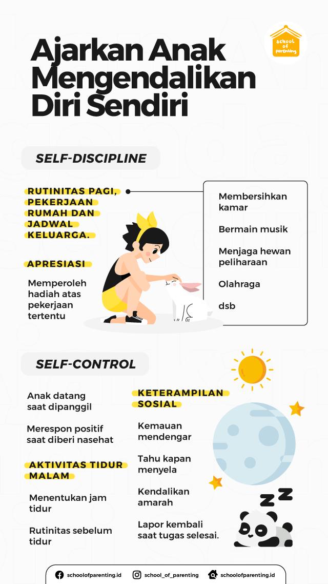 cara ajarkan anak self control