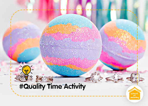 Quality Time Activity : Bath Bomb Aneka Warna dan Bentuk