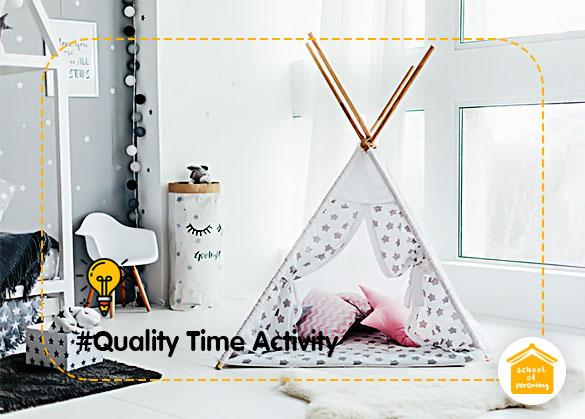 Quality Time Activity : Tenda Anak Sederhana (Teepee Tent)