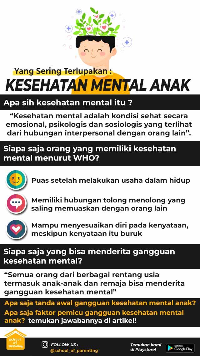 Kesehatan mental anak itu apa?