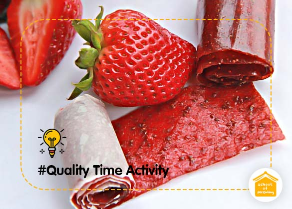 Quality Time Activity : Buah Gulung, Camilan Sehat untuk Anak