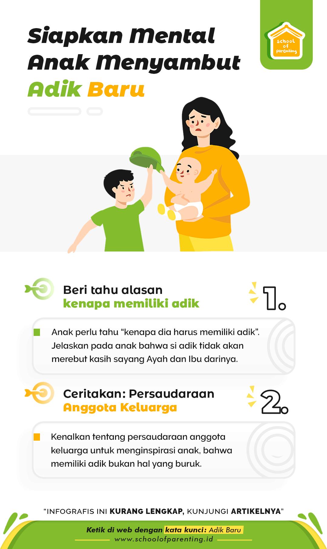 Siapkan mental anak punya adik baru