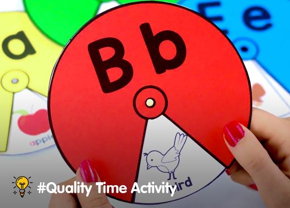 cara membuat spinner alphabet pintar