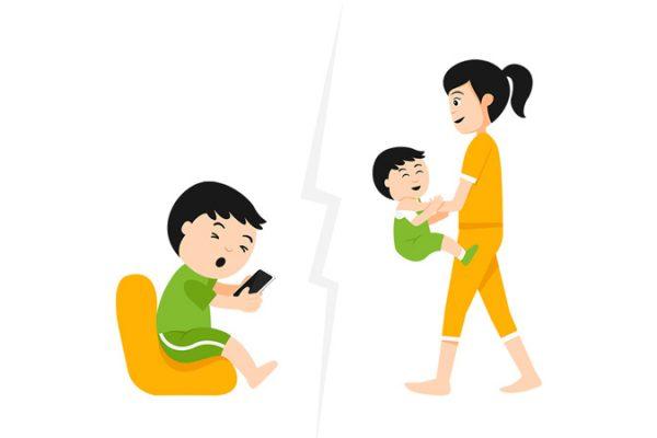 Manfaat main bersama Ibu daripada main dengan gadget
