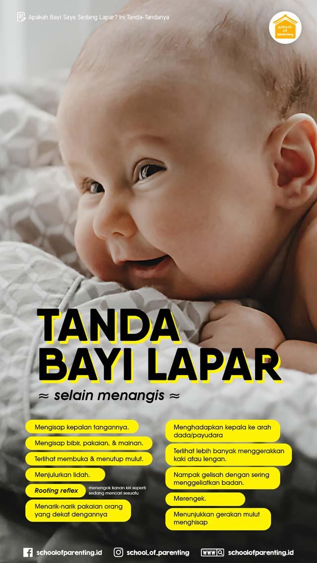 tanda-tanda bayi lapar.