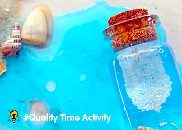 Cara membuat ocean in botol