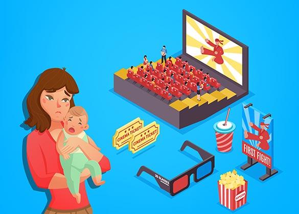 bahaya bawa bayi nonton film di bioskop