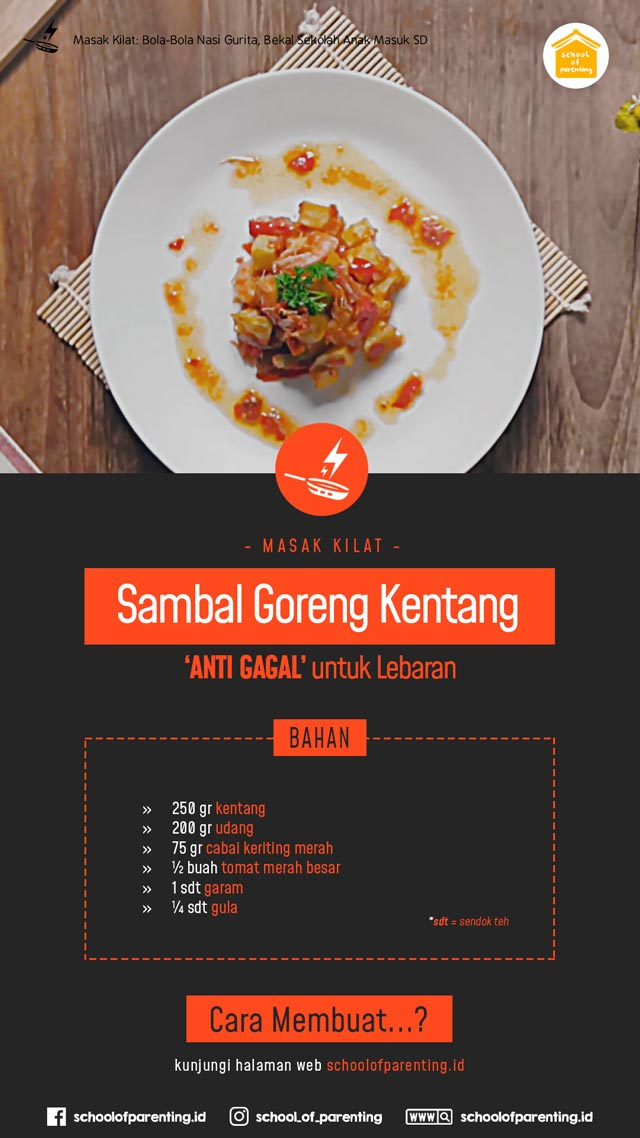 Tips masak sambal goreng anti gagal