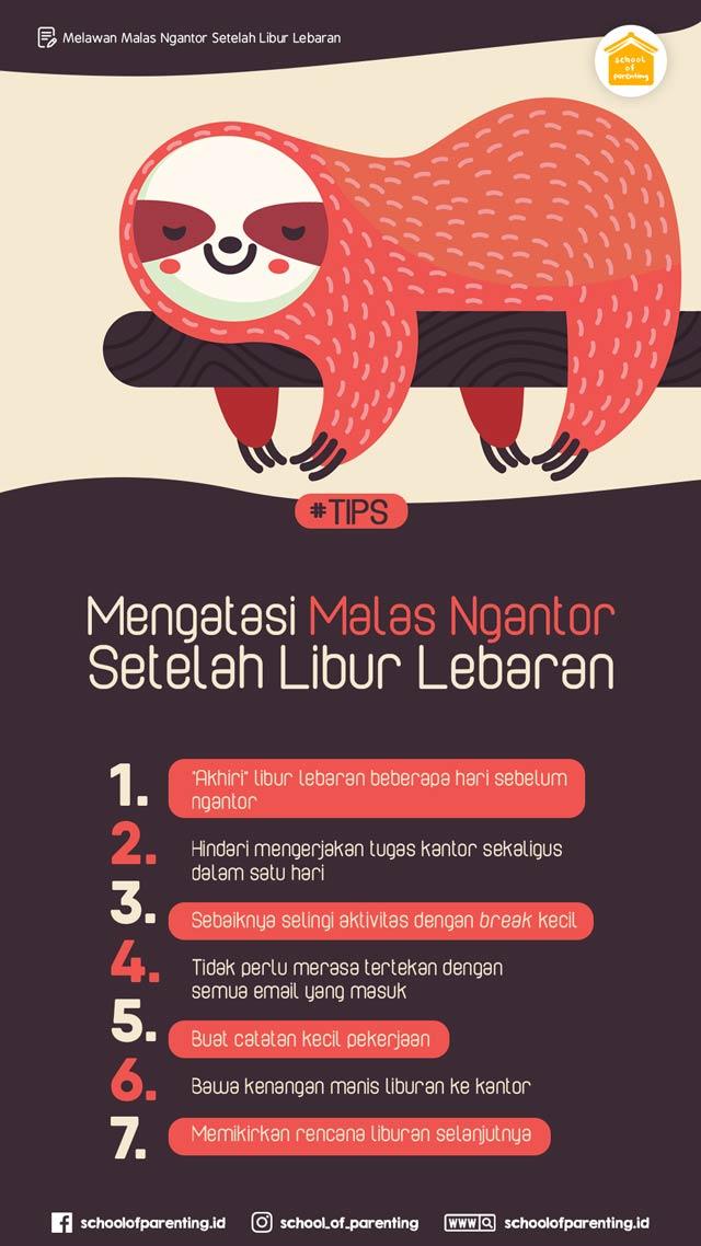 tips agar tidak malas ngantor setelah libur lebaran.