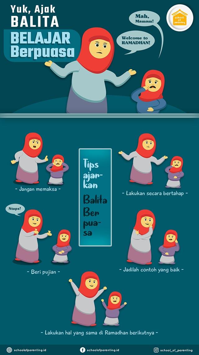 cara ajarkan anak berpuasa