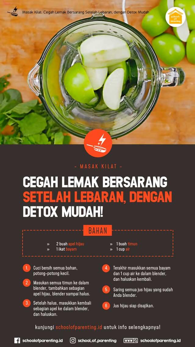 minuman detox setelah lebaran