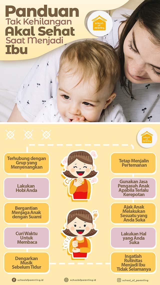 agar tidak kehilangan akal sehat saat menjadi ibu