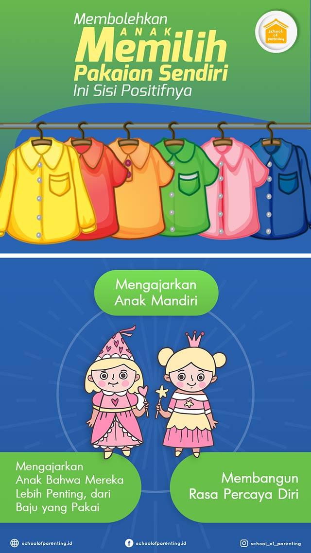 kenapa anak boleh memilih baju sendiri?