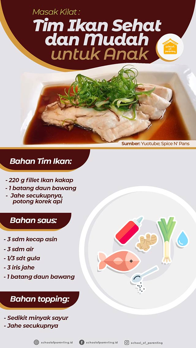 masak tim ikan mudah