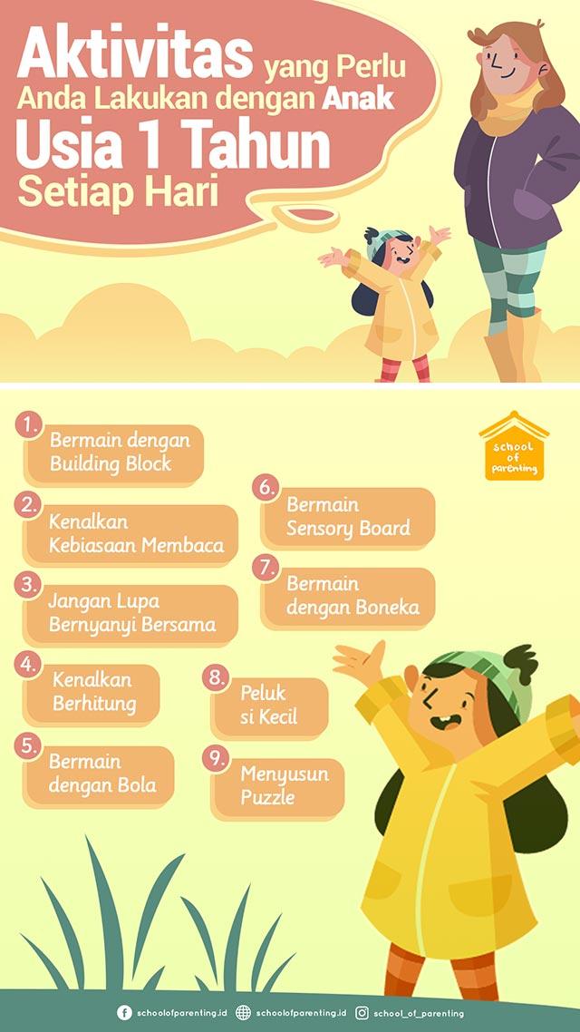 aktivitas bersama anak usia 1 tahun