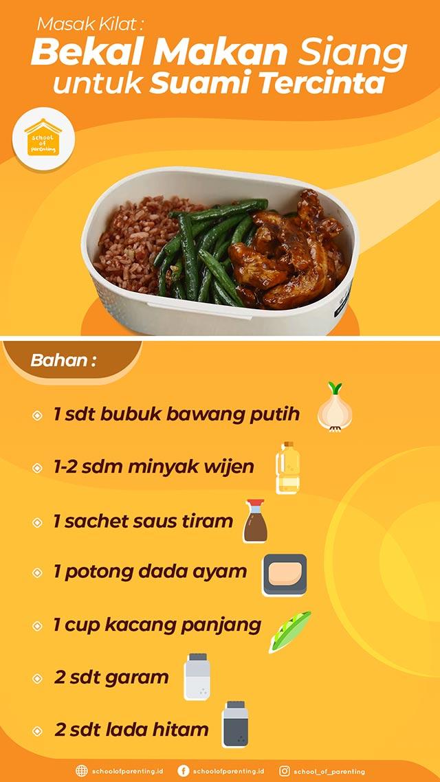 cara buat bekal makan siang suami