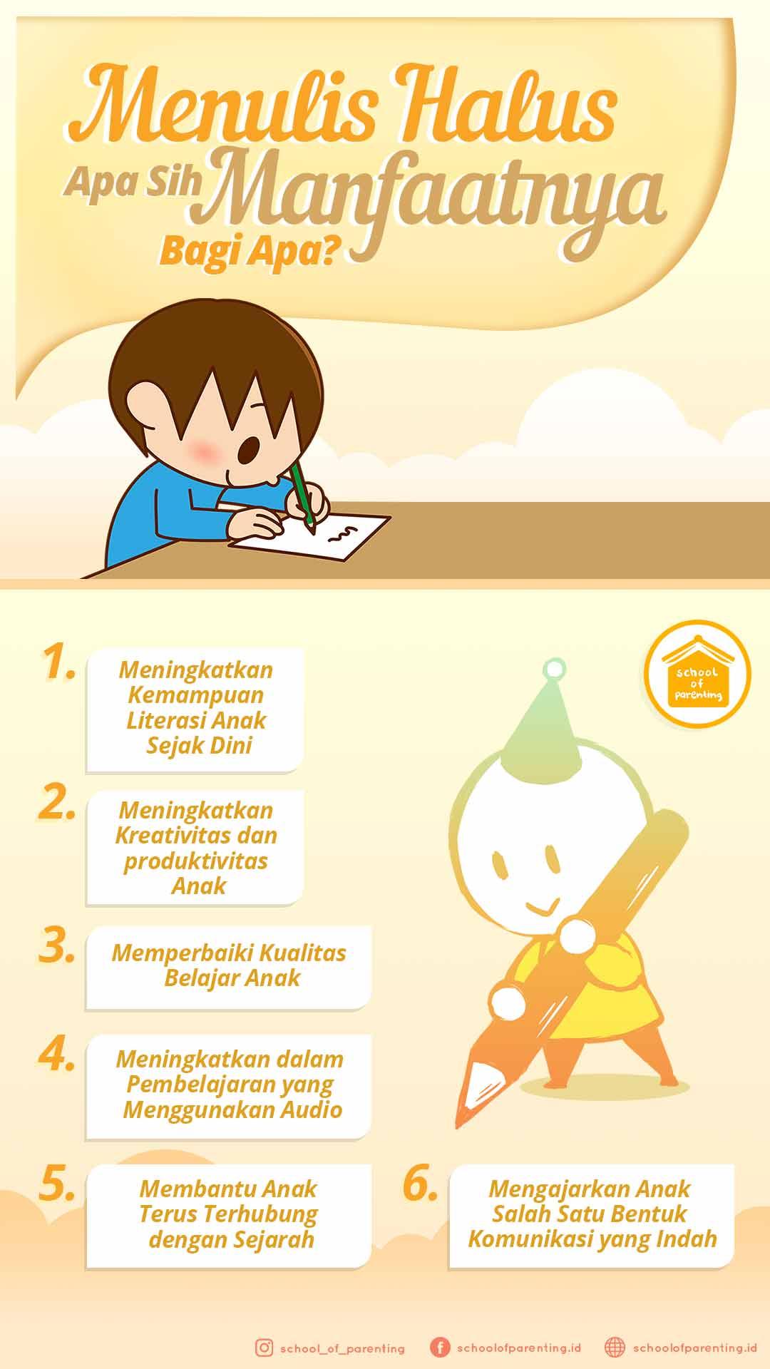 manfaat menulis halus untuk anak