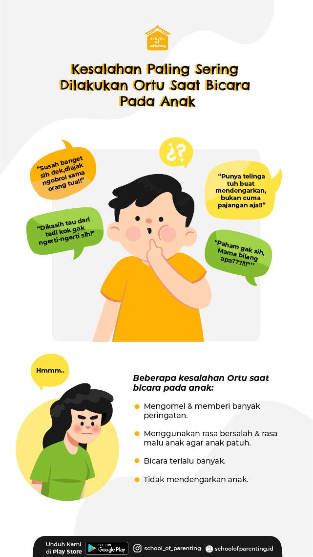 Kesalahan orang tua saat berbicara pada anak
