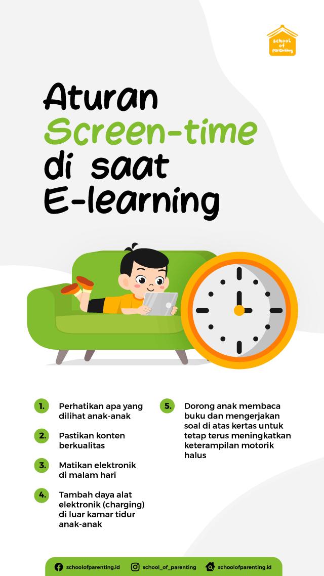 aturan screen time saat e-learning