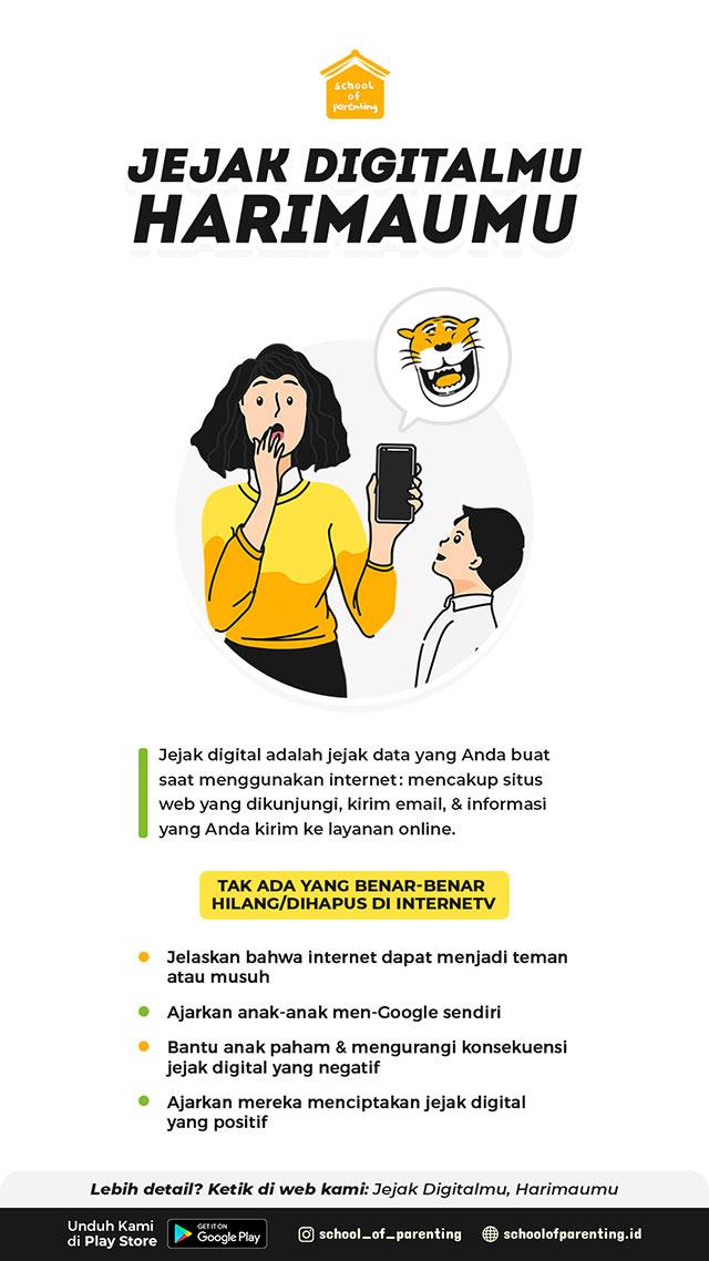 mengajarkan jejak digital pada anak