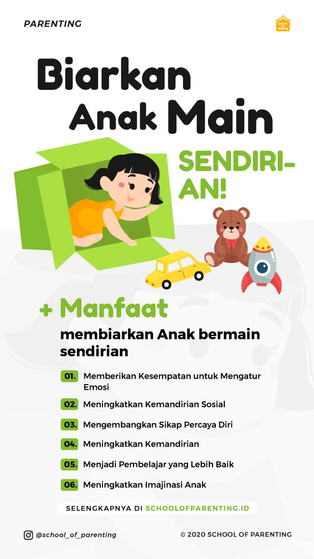 Manfaat anak bermain sendirian