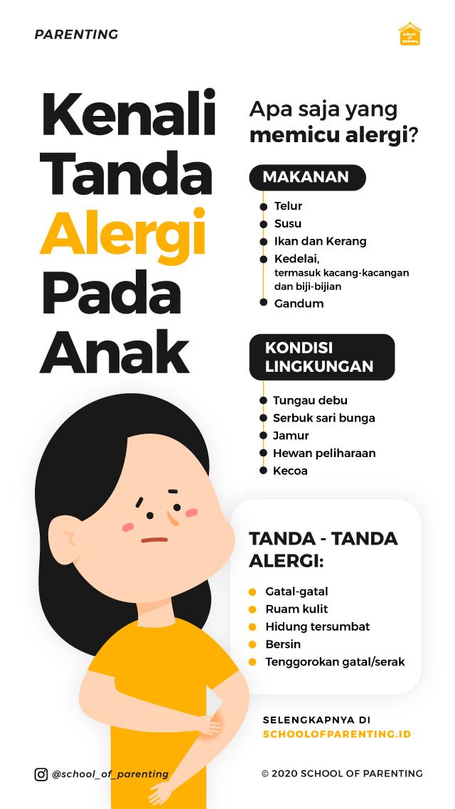 Kapan anak mulai menunjukkan tanda alergi?