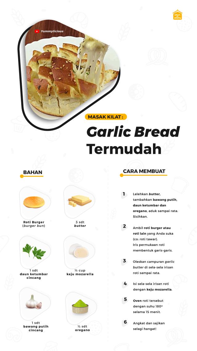 membuat garlic bread termudah
