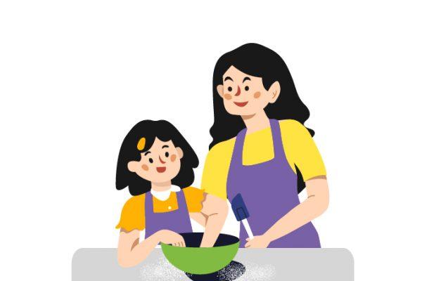 cara mempererat bonding anak dengan memasak
